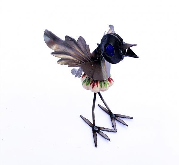 Colorful Bird with Cabinet Knob Body
